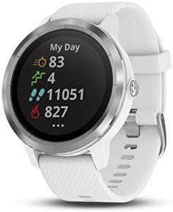 Garmin Vívoactive 3 Reloj Inteligente con GPS, Estándar, 1.2″, White with Stainless