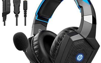 HP Auriculares estéreo para juegos PS4, Xbox One, Nintendo Switch, PC, PS3 y Mac